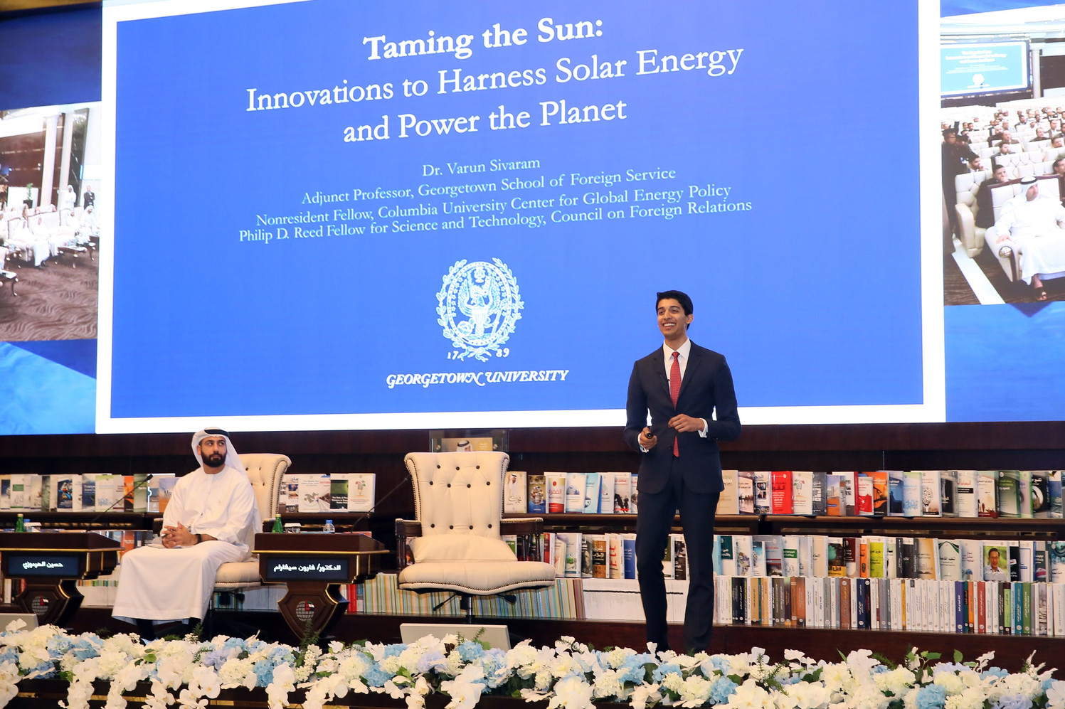 Abu Dhabi launch event at the Emirates Center for Strategic Studies and Research