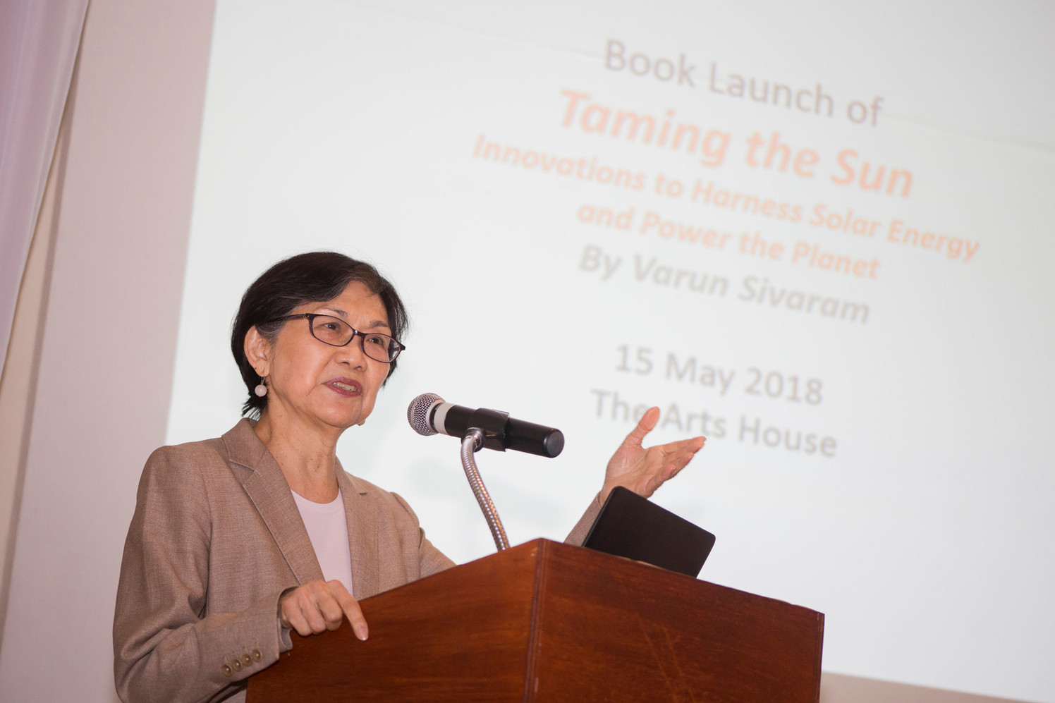 Ambassador Chan Heng Chee launches Taming the Sun in Singapore