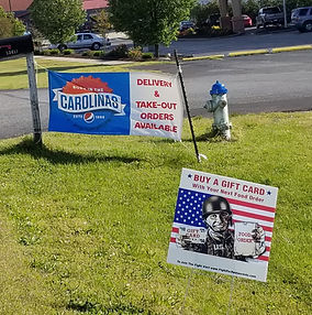 Yard Sign in Front of Restaurant.jpg