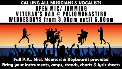 OPEN MIC AT VETERAN'S BAR (3pm until 6pm
