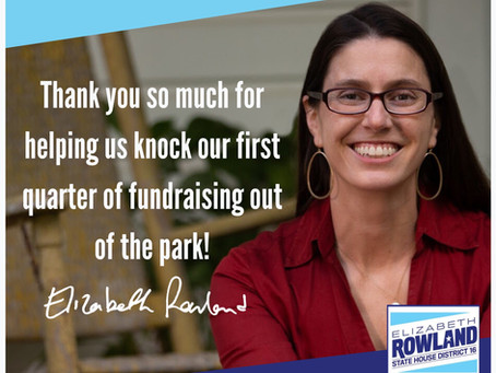CANDIDATE ELIZABETH ROWLAND OUTRAISES GOP OPPONENTS IN LATEST FUNDRAISING QUARTER