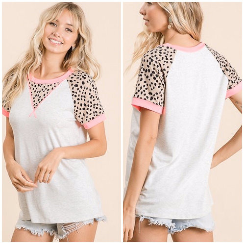 Cheetah Sleeve Top