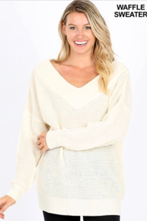 Off the Shoulder Sweater - Cream
