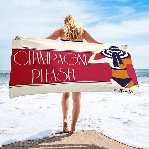 Champagne Please! | Geneva Lee Beach Towel