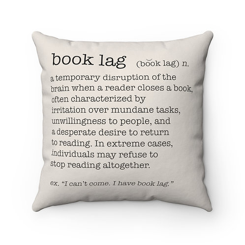 Book Lag  Square Pillow