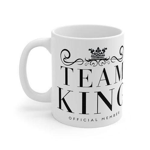 Team King White Ceramic Mug