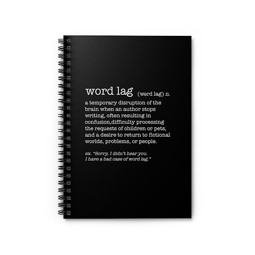 Word Lag Spiral Notebook - Ruled Line