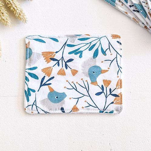 Lingette oiseaux bleus