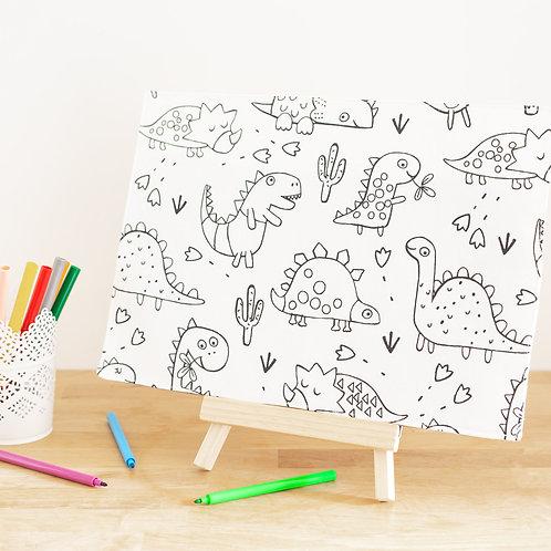 Set à colorier dinosaures