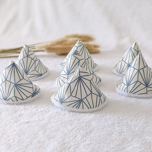 Tipis pipis origami bleu