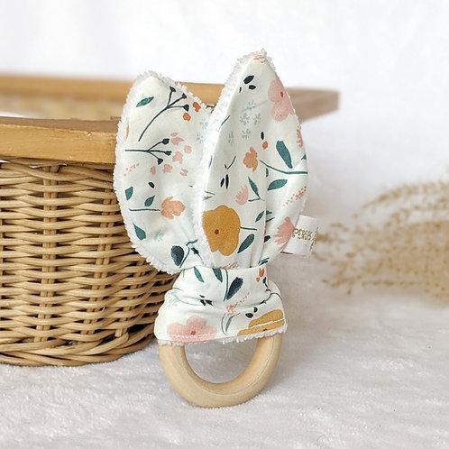 Hochet Fleurs & aquarelle