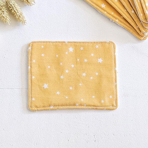 Lingette étoiles jaunes