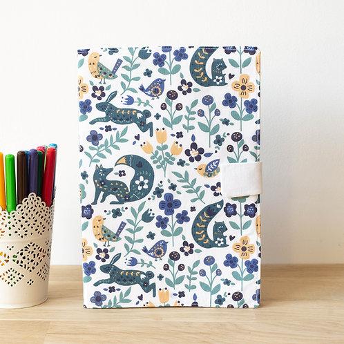 Livre de coloriage forêt bleue