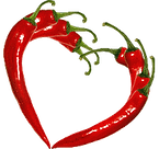 heart shaped red peppers