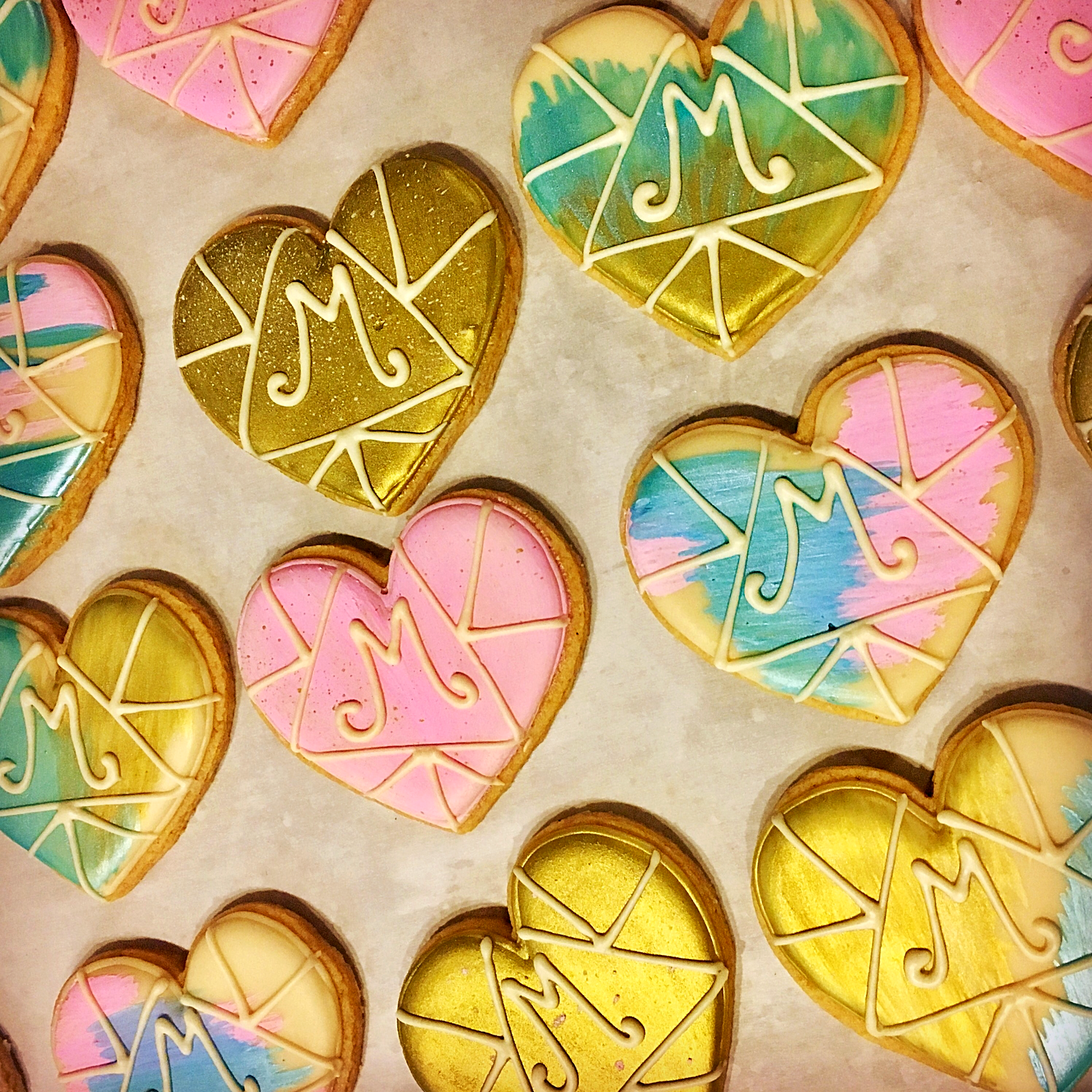 Monogram Wedding Cookies