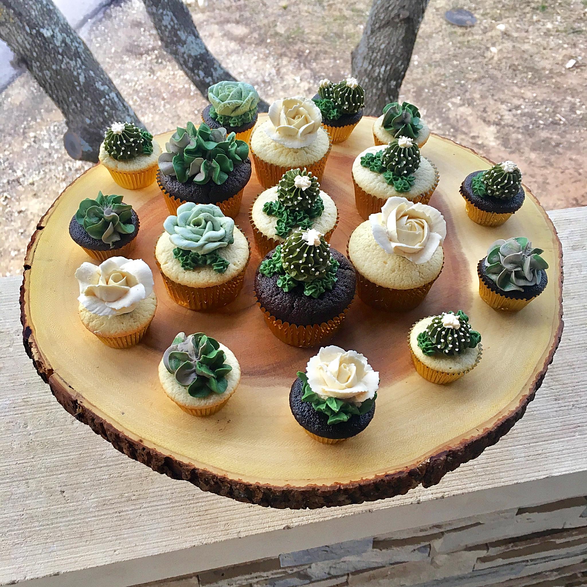 Floral & Succulent Cupcakes