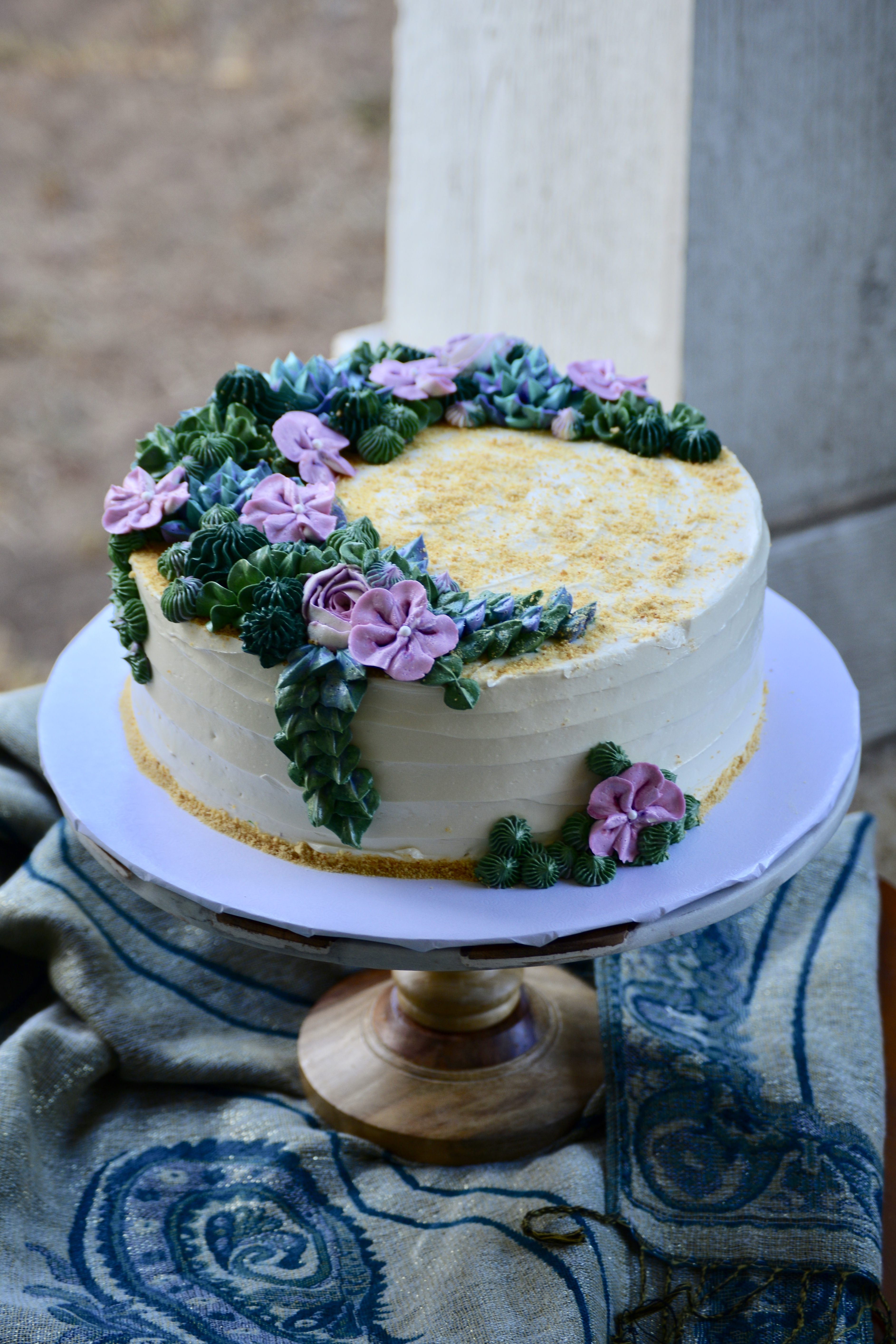 Floral and Succulent Cake