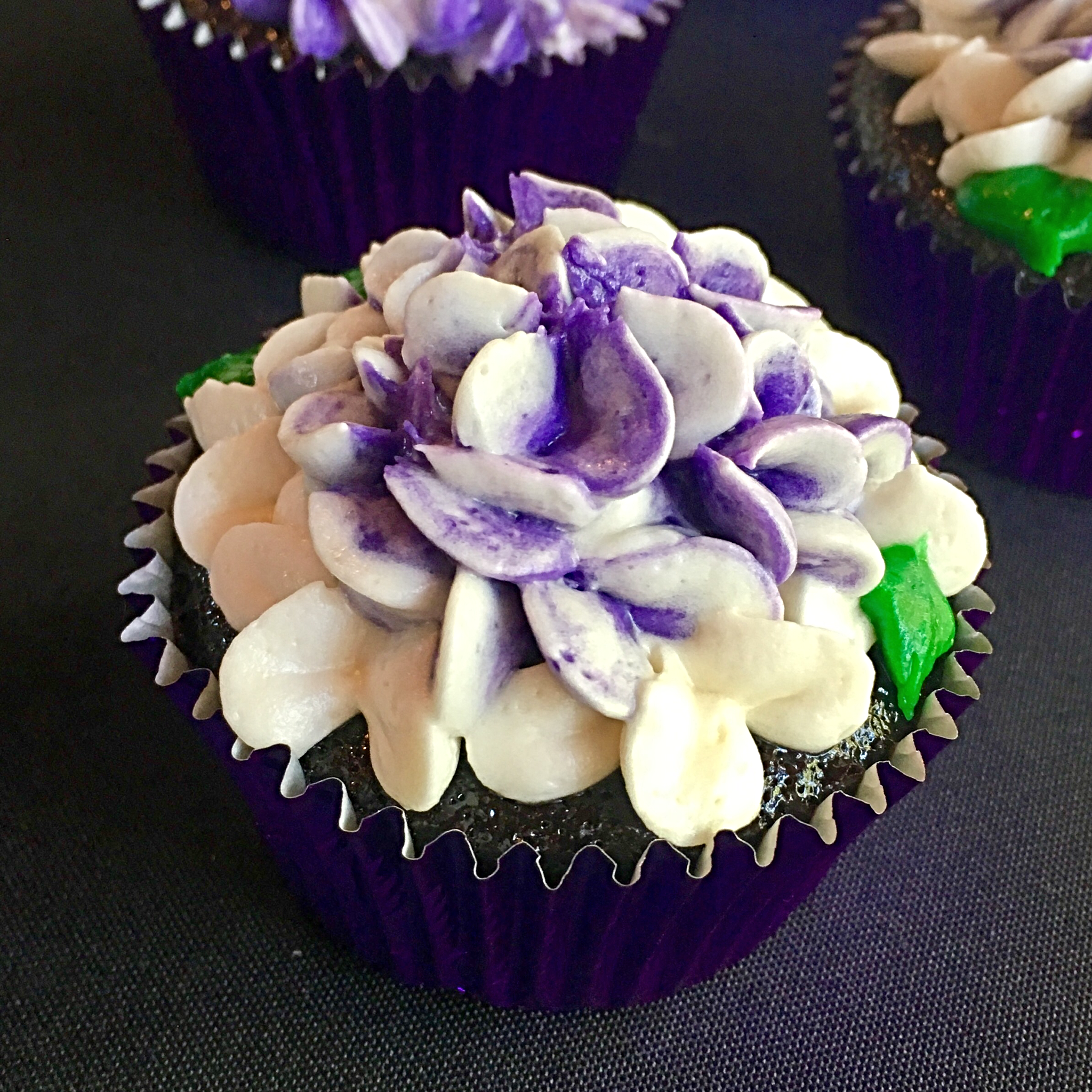 Vegan Hydrangea Wedding Cupcake