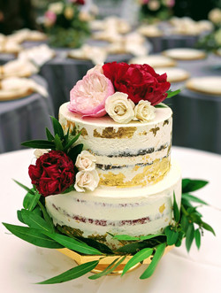 Gold Leaf Naked Cake