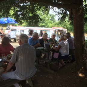 lunch time on the boat trip 2018