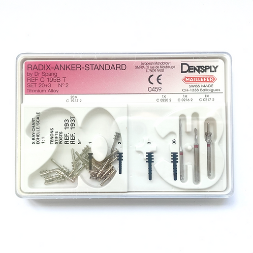 Dentsply Maillefer 20 Radix Anker 3BT Titan + 3 Instrumente