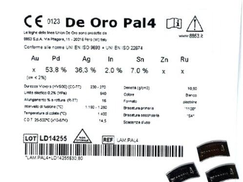 DE ORO PAL 4 Aufbrennlegierung