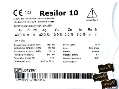 RESILOR 10 Gusslegierung