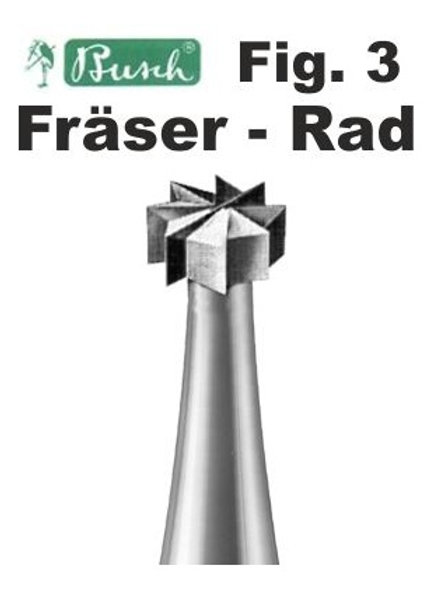 Busch Fräser - Rad