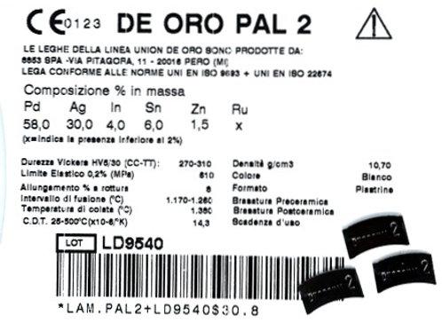 DE ORO PAL 2 Aufbrennlegierung