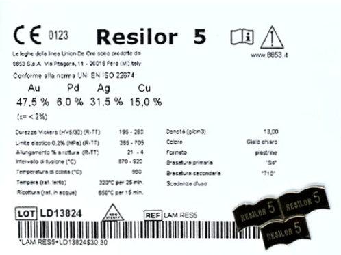 RESILOR 5 Gusslegierung