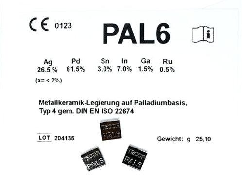 PAL 6 Aufbrennlegierung