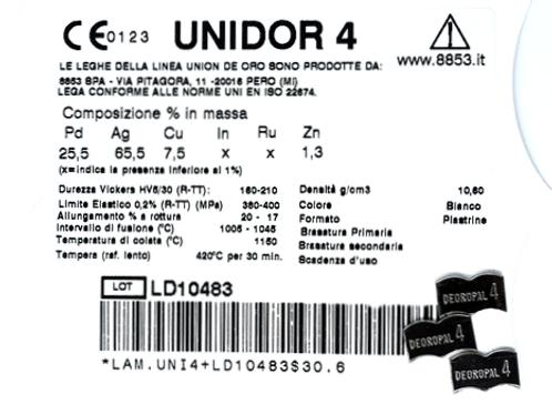 UNIDOR 4 Gusslegierung