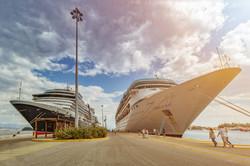 Cruiseships in Corfu / Greece