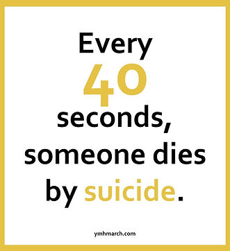 Every 40 Seconds somoene dies by suicide