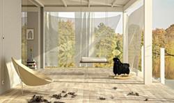 Wohnzimmer Holzlook