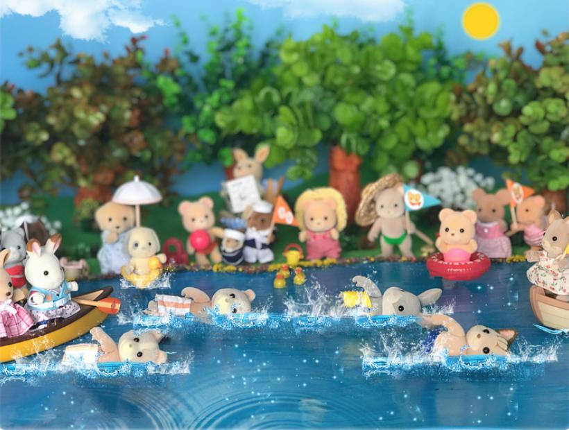 We love swimming!
