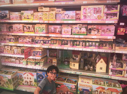 With Charles at the toyshop