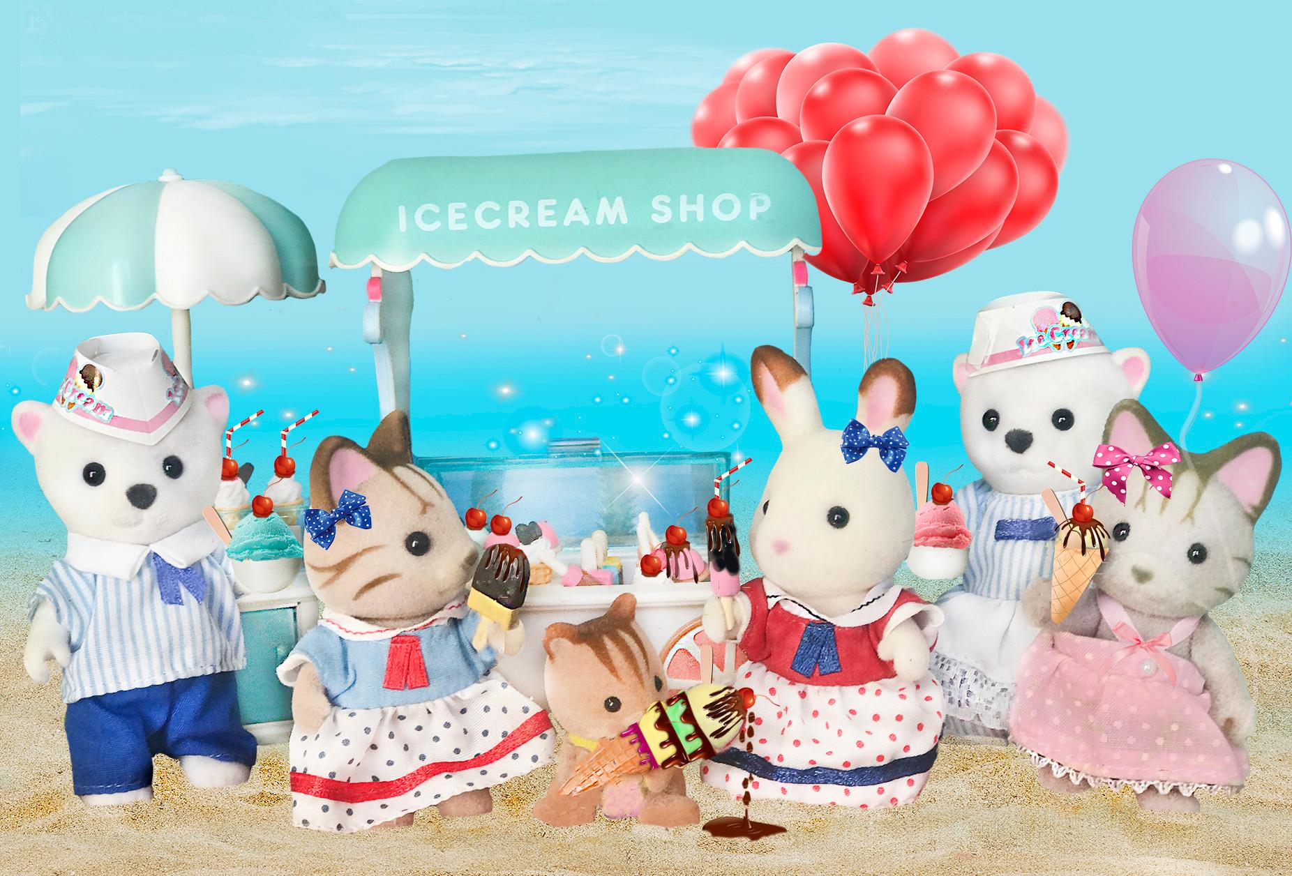 Buying ice cream, yummy!