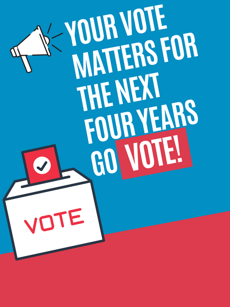 Your vote matters for the next four year