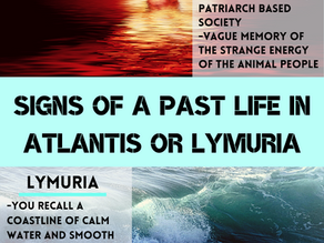 Do you believe you may have lived during the time of Atlantis or Amun (Lemuria)?