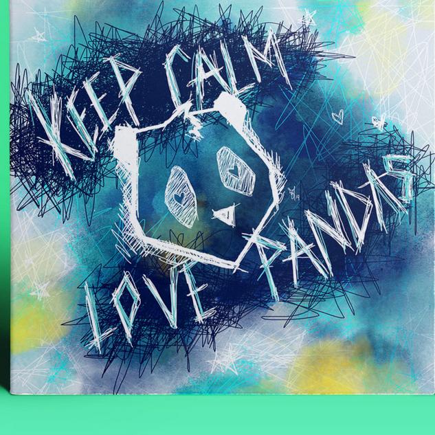 Coverdesign Keep Calm and Love Pandas