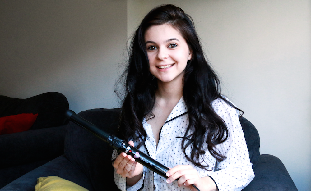 auto-rotating curling iron