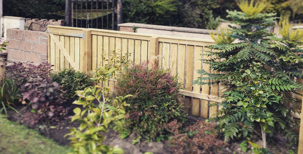 4ft slat fencing and gate