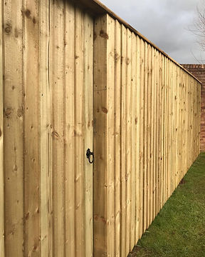 Feather edge fencing and gate installation in Ponthir, Torfaen - Ark Fencing & Garden Services