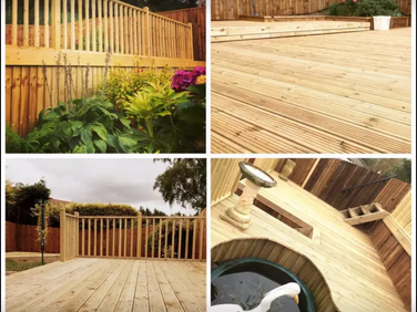 Selection of decking by Ark Fencing & Graden Services