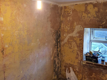 Cottage room before