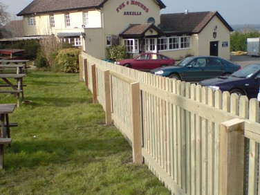 Picket Fencing at Pub grounds