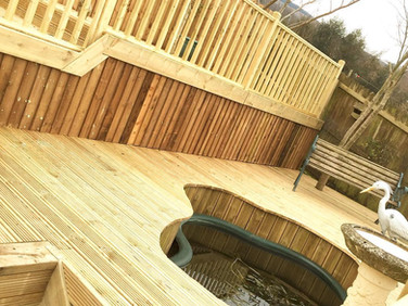 Multiple level decking in Henllys Cwmbran