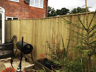 Feather edge fencing with top frame