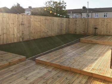 Decking, fencing & turfing